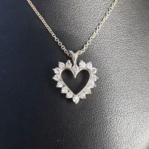 Jewelry - Diamond Heart Pendant and Chain
